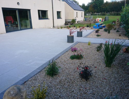 Patio and flower beds in Tipperary